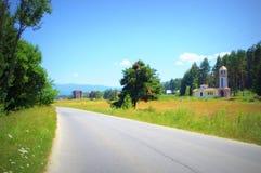 Rhodopes mountain road,Bulgaria Stock Photography