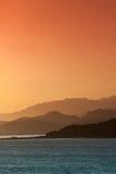 Rhodopos Peninsula. Landscape of the Rhodopos Peninsula at sunrise in Crete, Greece royalty free stock photo