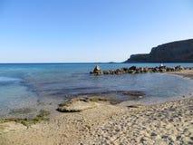 rhodos海滩 免版税库存图片