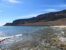 rhodos海滩 免版税库存照片