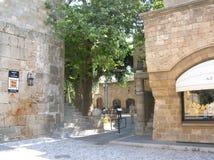 Rhodos старый портовый город Стоковые Изображения RF