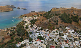 Rhodos. View of Rhodos from height of birds flight stock photography