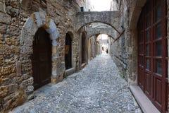 Rhodos, alte Stadt Stockfotografie