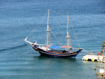 Rhodos boat. Wonderful rhodos cruise tourist boat Royalty Free Stock Image