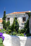 Rhodos Greece architecture historic buildings details Windows Royalty Free Stock Image