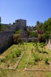 Rhodos Greece Castle garden Stock Photography