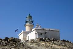 Rhodos - Griekenland - de vuurtoren royalty-vrije stock afbeelding