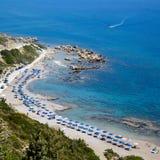 Rhodos island, Faliraki nudist beach, Greece.  Stock Photos