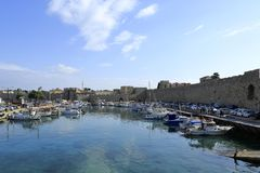 Rhodos, Mandraki-Haven stock fotografie