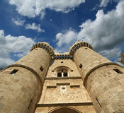 Rhodos-mittelalterliches Ritter-Schloss (Palast), Griechenland Lizenzfreie Stockfotografie