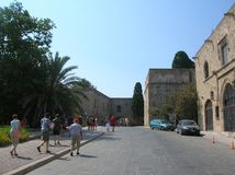 Rhodos the old port city. In the big sea. Alot of history Royalty Free Stock Photo