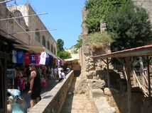 Rhodos the old port city. In the big sea. Alot of history Royalty Free Stock Photography