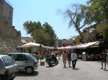 Rhodos the old port city. In the big sea. Alot of history Royalty Free Stock Photos