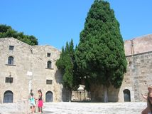 Rhodos the old port city. In the big sea. Alot of history Royalty Free Stock Image