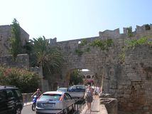Rhodos the old port city. In the big sea. Alot of history Stock Photos