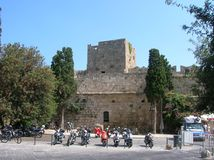 Rhodos the old port city. In the big sea. Alot of history Stock Image