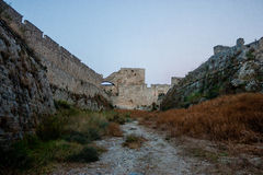 Rhodos old town old moat Royalty Free Stock Photo