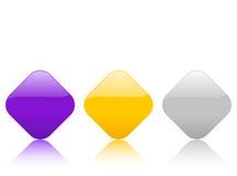 rhomb иконы 2 цветов Стоковые Изображения