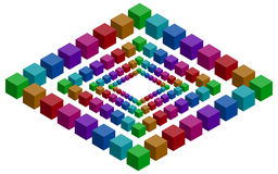 Rhomb illusion stock illustration
