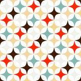 Rhomb pattern. Including seamless sample in swatch panel Stock Image