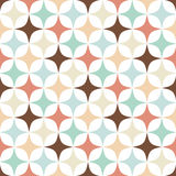 Rhomb pattern. Including seamless sample in swatch panel Royalty Free Stock Images