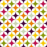 Rhomb pattern. Including seamless sample in swatch panel Stock Photos