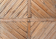 Rhomb pattern of the old wooden gate. Royalty Free Stock Photography
