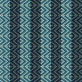 Rhombe pattern. Rhombe seamless pattern design in blue tones Stock Photography