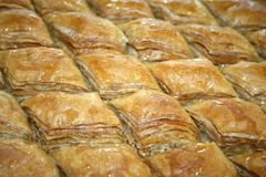 Rhombic baklava (close-up) Stock Photo