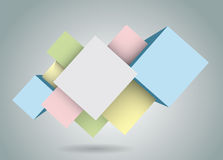 Rhombic figures royalty free stock image