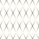 Rhombic pattern of small black dots Royalty Free Stock Photography