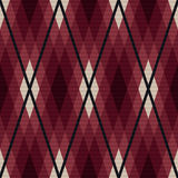 Rhombic seamless fabric pattern in red and gray Royalty Free Stock Photo