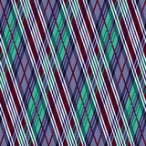 Rhombic seamless pattern in cool hues Stock Images