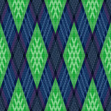 Rhombic seamless pattern in green and blue Royalty Free Stock Photo