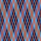 Rhombic seamless pattern in red an blue hues Stock Photography