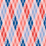 Rhombic seamless pattern in red an blue trendy hues Stock Images