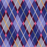 Rhombic tartan blue and pink fabric seamless textu Royalty Free Stock Photo