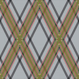 Rhombic tartan brown and gray fabric seamless text Stock Images