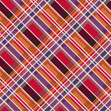 Rhombic tartan fabric seamless texture in warm colors Royalty Free Stock Images