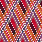 Rhombic tartan fabric seamless texture in warm hues Royalty Free Stock Photography