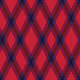 Rhombic tartan green and red fabric seamless textu Royalty Free Stock Photo