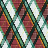 Rhombic tartan green, white and brown fabric seaml Royalty Free Stock Photos