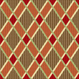 Rhombic tartan red and brown fabric seamless textu Stock Images