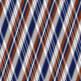 Rhombic tartan seamless texture in blue, grey and brown hues Royalty Free Stock Photography