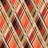 Rhombic tartan seamless texture mainly in brown hues Stock Image