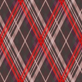 Rhombic tartan seamless texture mainly in muted colors Stock Photo