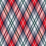 Rhombic tartan seamless texture in red and light grey hues Stock Photography