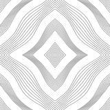 Rhombic textur av konturlinjer Arkivfoto