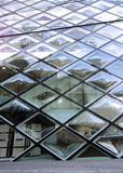 Rhomboid-grid glass building Royalty Free Stock Photography