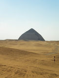 Rhomboid pyramid. The Dashur`s orbital or rhomboid pyramid stands out because its inclination was reduced to half of its construction, and because it is the only Royalty Free Stock Photography